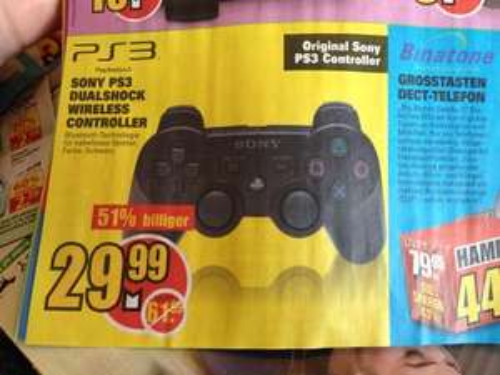 [Lokal Bremen] Sony PS3 Controller schwarz