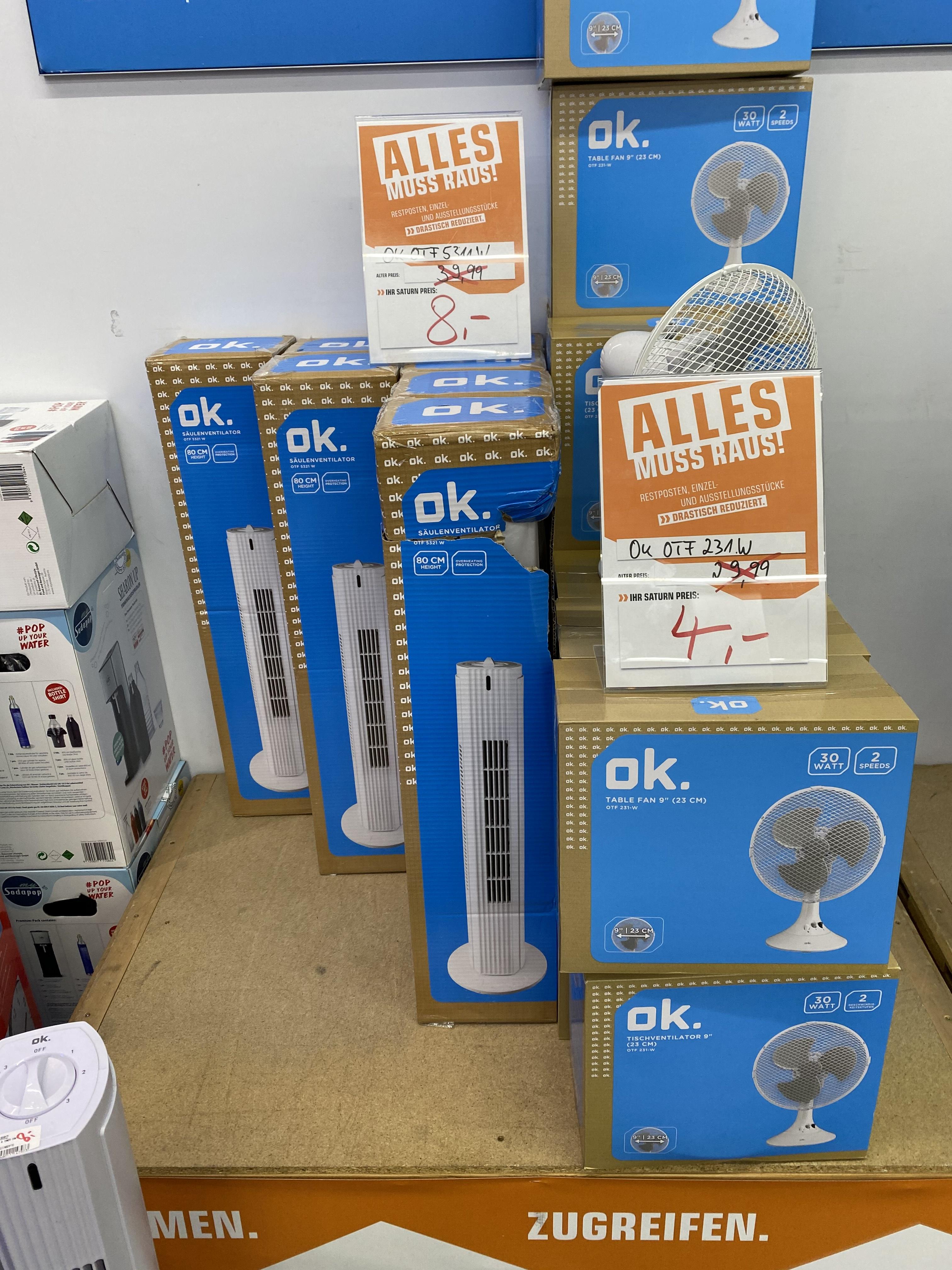 (Lokal Oberhausen) Saulenventilator 8€ und Tischventilator 4€