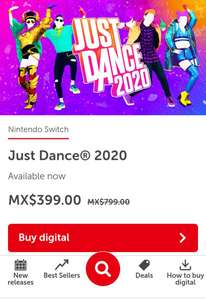 Just Dance 2020 digital Switch im Mexikanischen Nintendo eShop