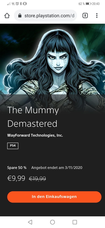 The Mummy demastered für 9,99 PS Store ( PS 4)