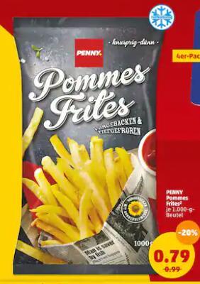 [Penny] 1000h Pommes Frites (79Cent/Kg)