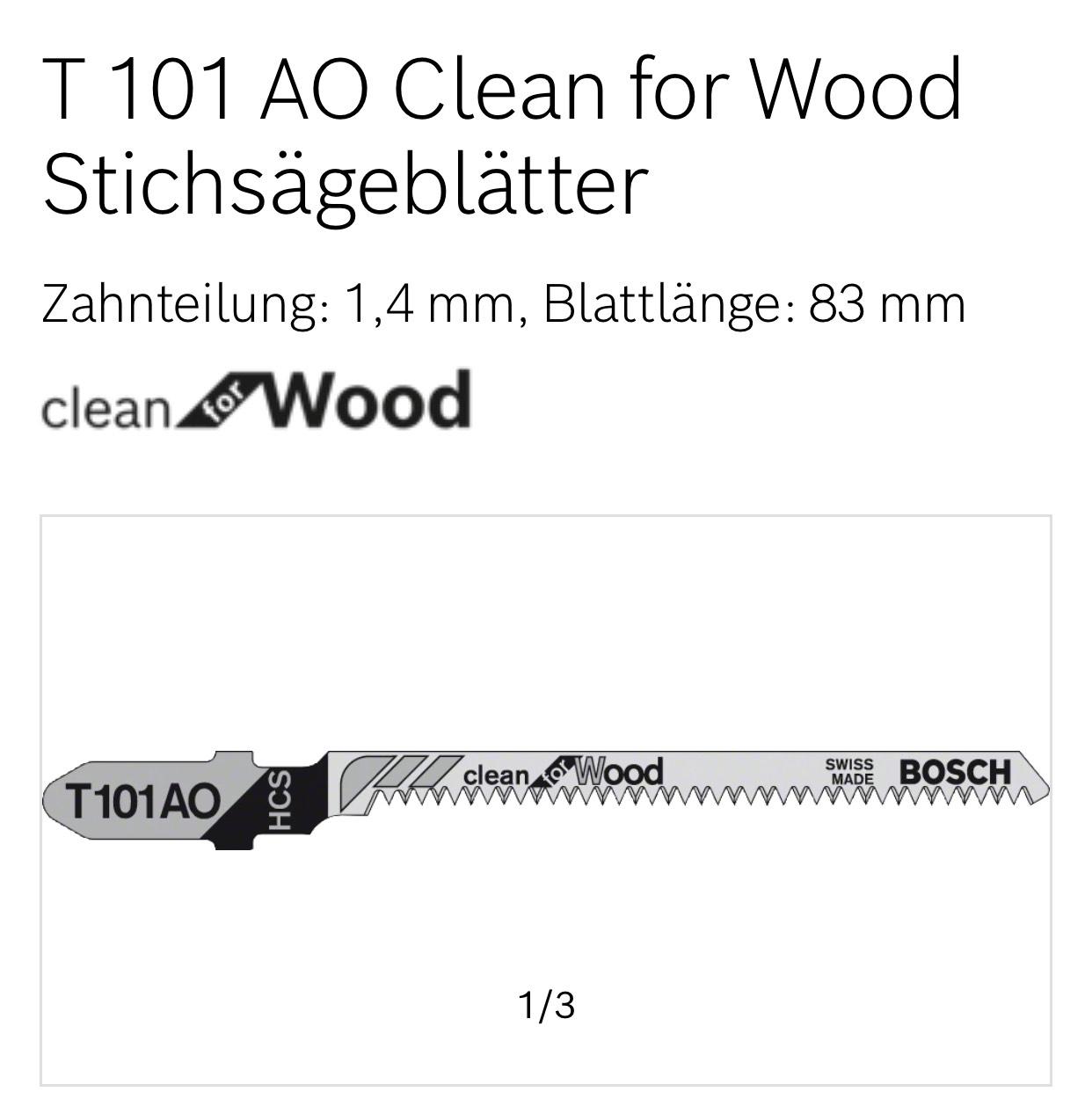 [Amazon Prime] Bosch Stischsägeblatt für saubere Kurvenschnitte