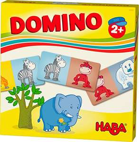 HABA 303763 - HABA-Lieblingsspiele – Domino Zootiere | Dominospiel mit 15 Dominosteinen aus Pappe Spielzeug ab 2 Jahren (Amazon Prime)
