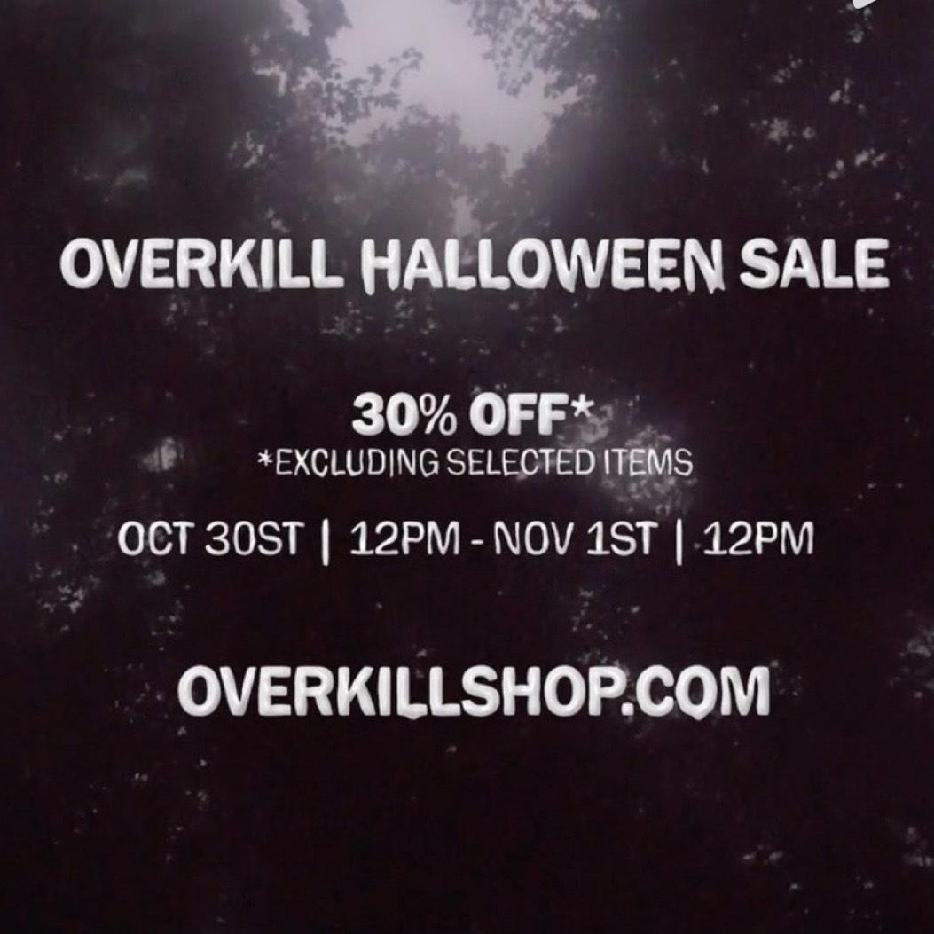 30% auf fast Alles im Overkill-Shop - Halloween-Sale - z.B. auf Adidas, Nike, New Balance, Puma, On