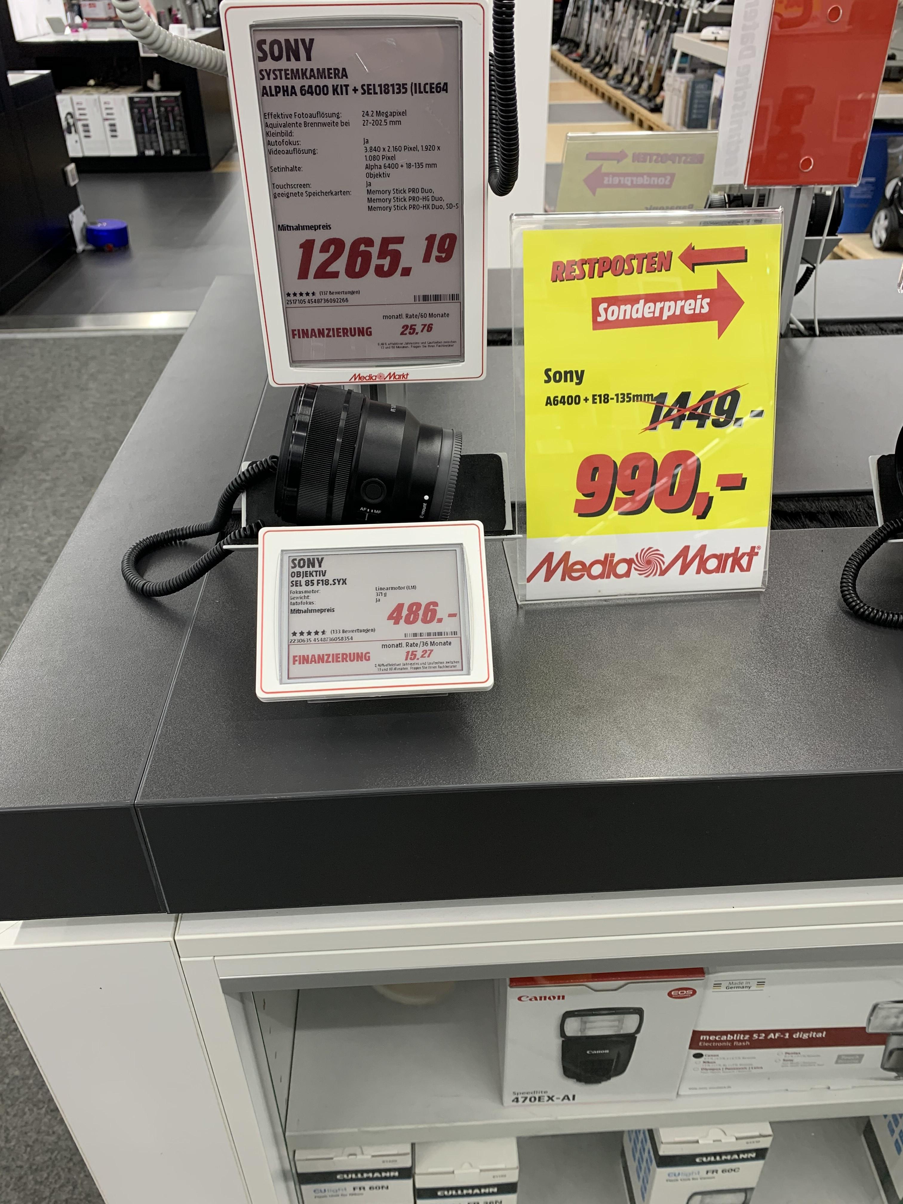 [Lokal MM Jena] Sony a6400 im 18 - 135 Kit für 990€