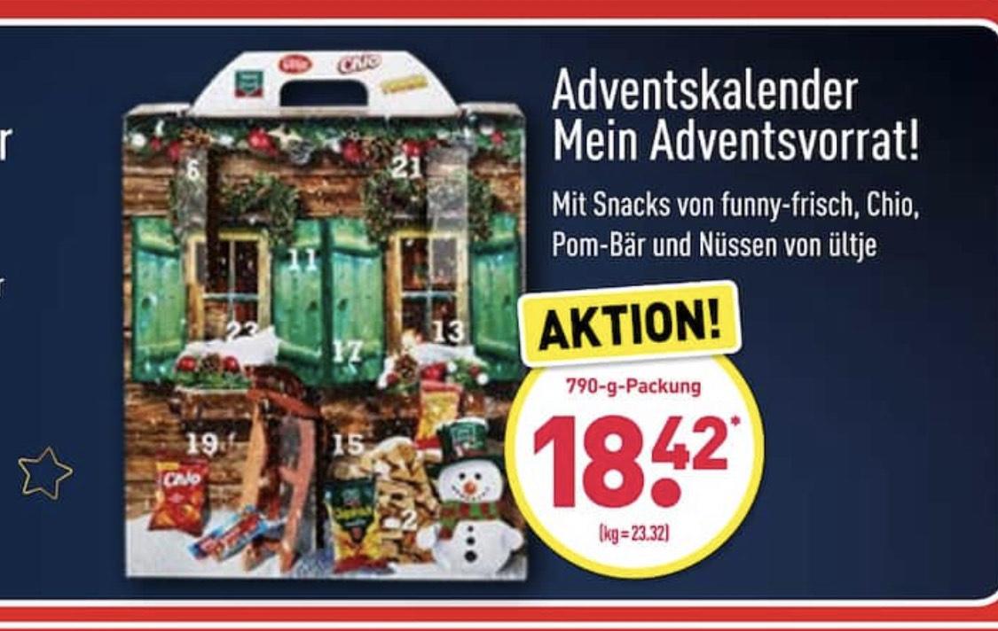 ALDI-NORD: Intersnack Adventskalender , 790 gr