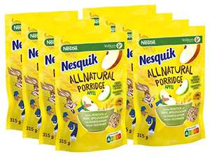 NESQUIK All Natural Porridge Apfel mit Haferflocken, 8er Pack (8 x 315g) (AMAZON SPARABO)