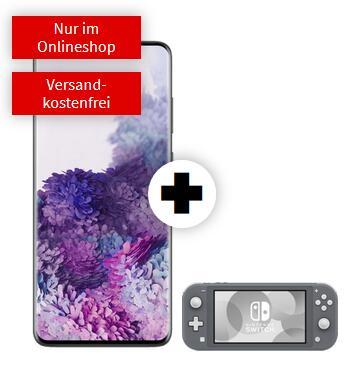 Samsung Galaxy S20 Plus & Nintendo Switch Lite im Debitel Telekom (18GB LTE, Allnet/SMS, VoLTE und VoWiFi) mtl. 36,99€ einm. 29€