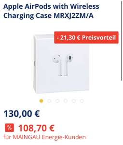 Apple AirPods 2 inkl. wireless Charging Case