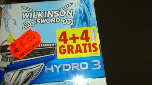 Hydro 3 Klingen Wilkinson 4+4 = 5€ bei Kaufland Rheda-Wiedenbrück