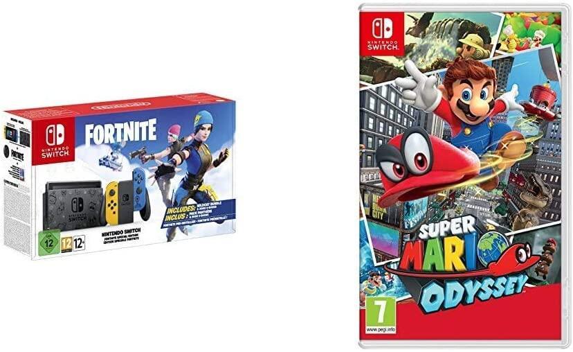 Nintendo Switch Fortnite Special Edition + Super Mario Odyssey für 331,44€ (Amazon.es)
