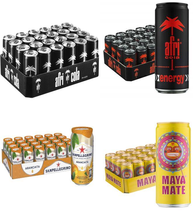 *Sammeldeal* 24er Pack 0,33l Dosen afri Cola mit/ohne Zucker/Energy(0,45€), Sanpellegrino(0,66€), Maya Mate(0,46€) usw., - Prime*Sparabo