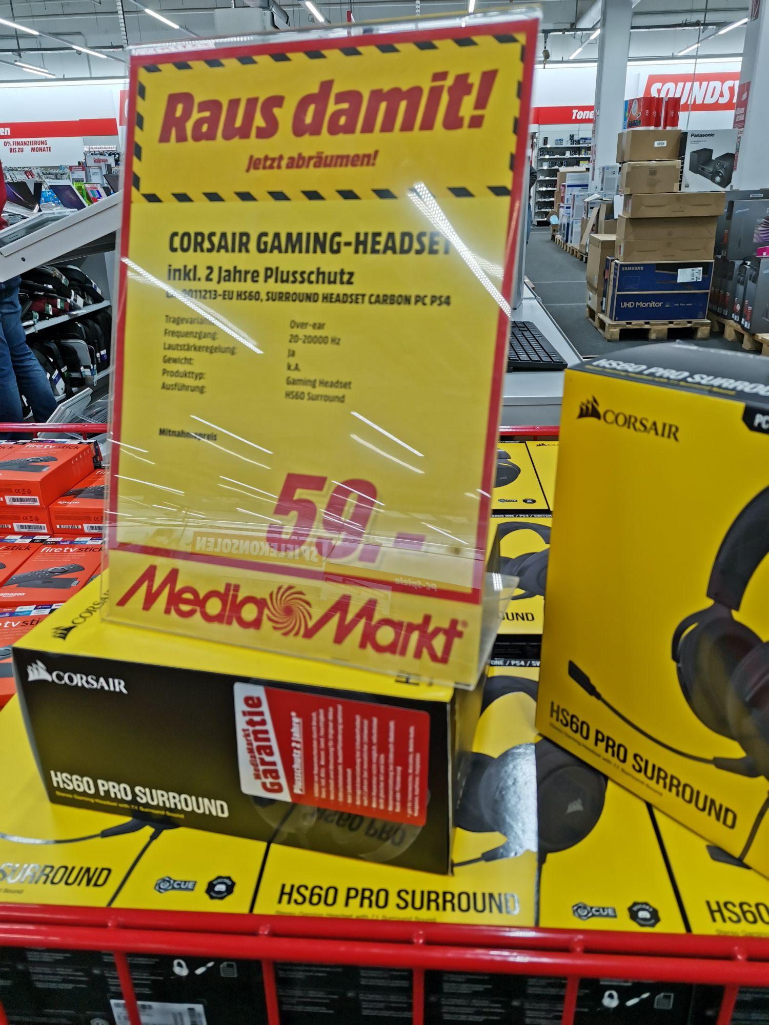 Lokal - Mediamarkt Heppenheim Corsair HS60 Pro Surround Gaming Headset (7.1 Surround Sound)