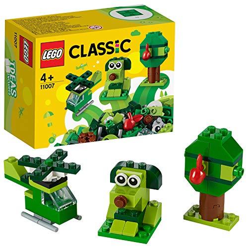 (Prime) LEGO Classic - Grünes Kreativ-Set (11007) Lernstarter-Set, Spielzeug für Vorschulkinder ab 4 Jahren