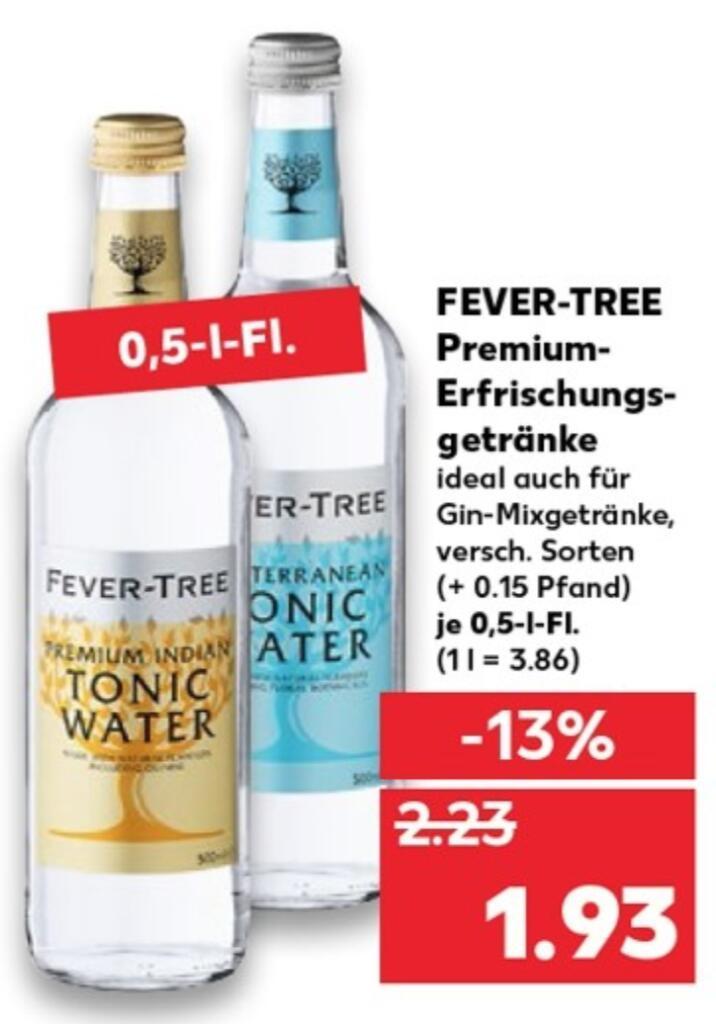 [KAUFLAND] Fever-Tree Premium Tonic Water (1 x 0,5l, vers. Sorten)