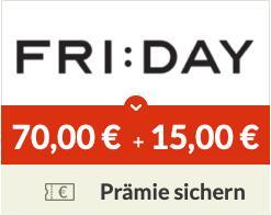 100€ Wechselprämie für KFZ-Versicherung bei FRI:DAY über Spartanien