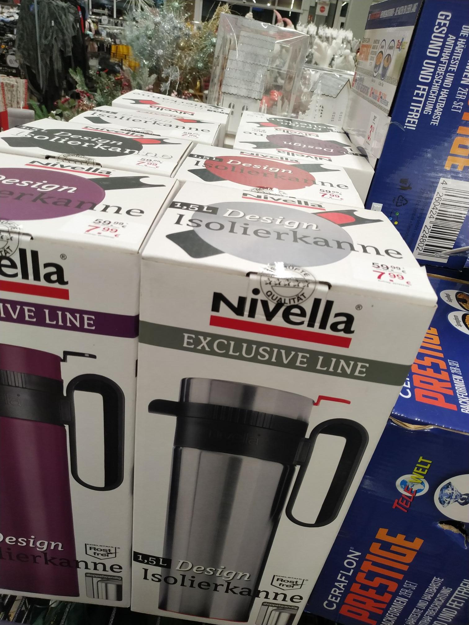 (Bundesweit) Nivella Thermoskanne 1,5l Isolierkanne verschiedene Farben - Woolworth