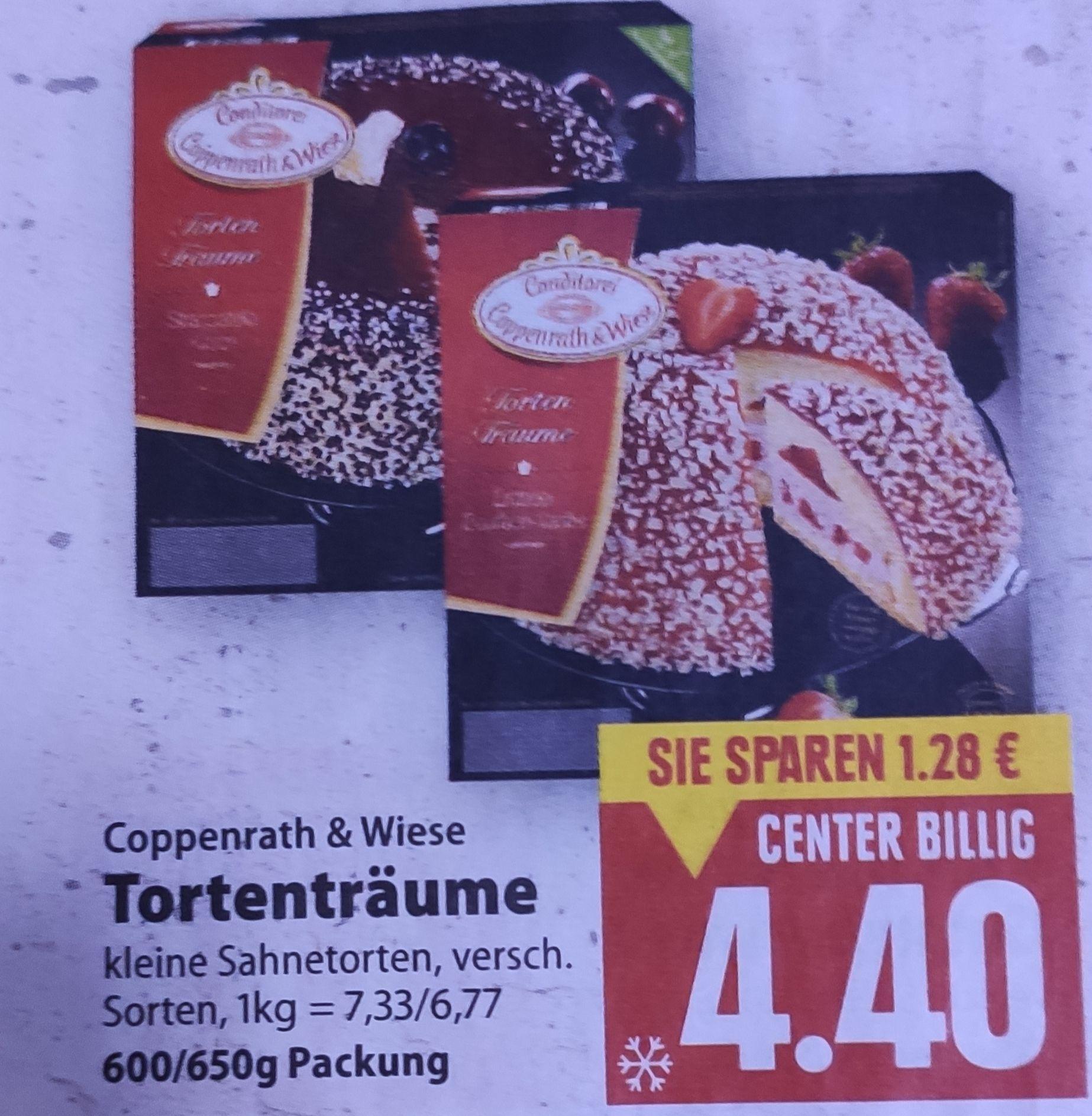 [Edeka Center Minden-Hannover] Coppenrath & Wiese Tortenträume 600g/650g mit Coupon für 3,40€