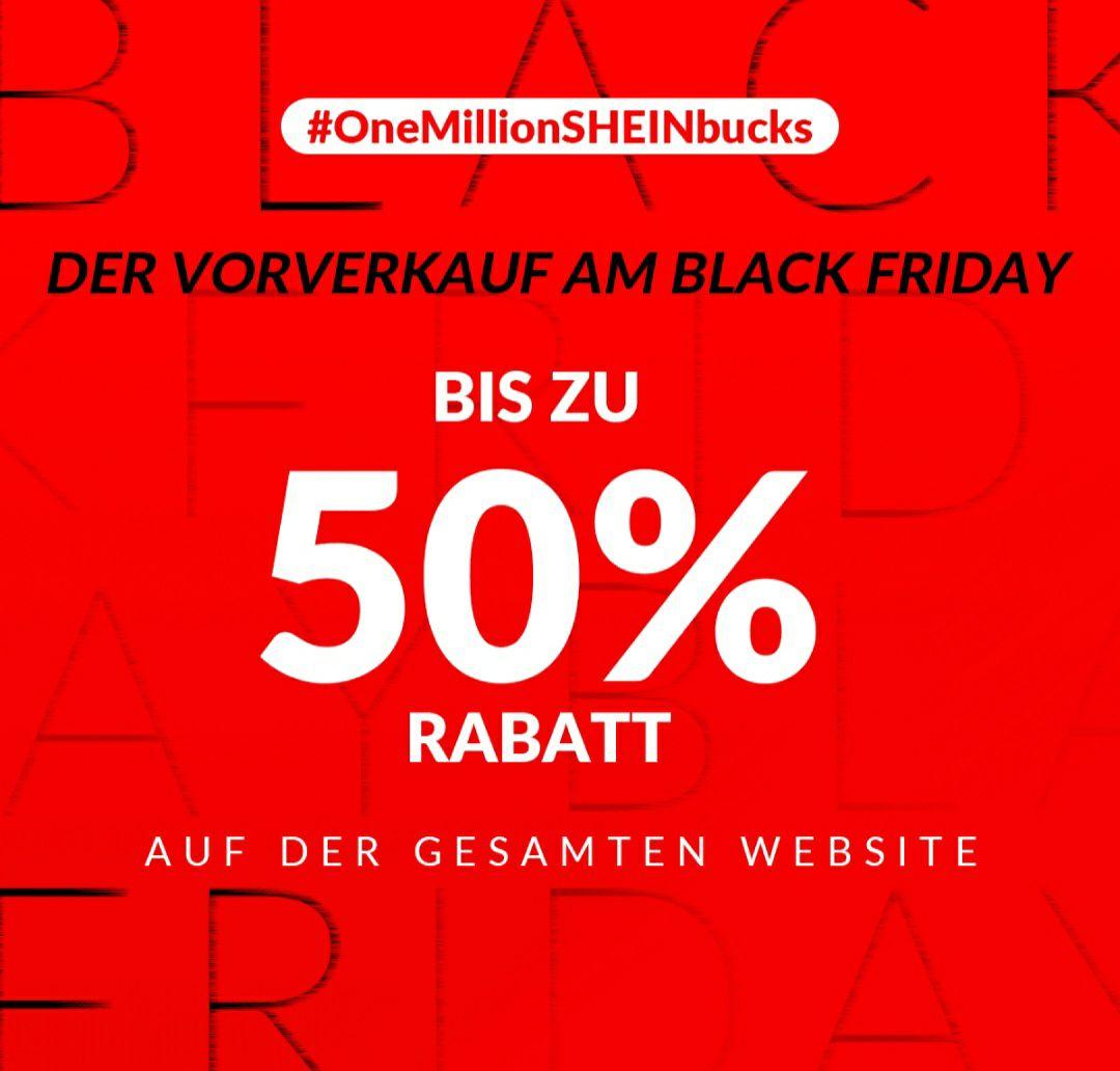 SheIn 20% + 50% Black Friday Vorverkauf