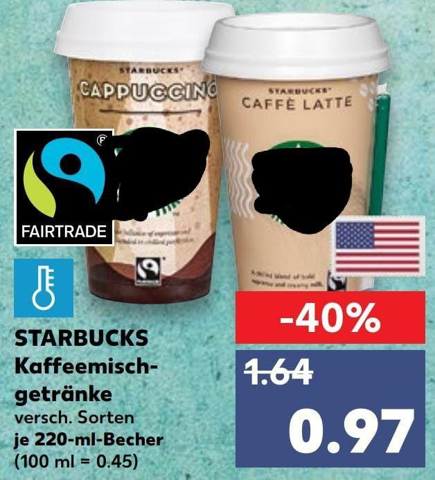 [Kaufland] STARBUCKS Chilled Coffee alle Sorten mit Coupon 0,27€
