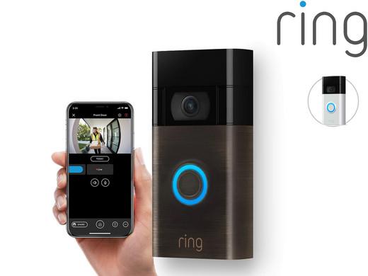 Ring Video-Türklingel (1080p), 2. Gen, Alexa kompatibel,