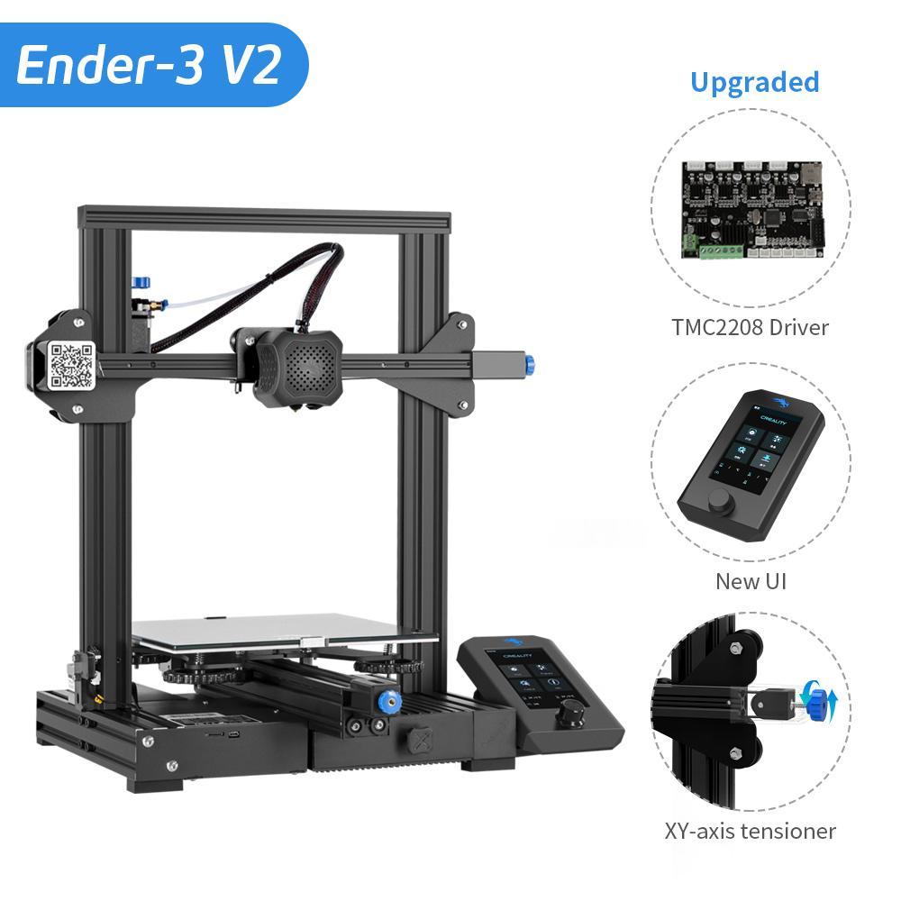 3D-Drucker Creality Ender 3 V2 (22x22x25cm, jetzt mit silent-Board, Versand aus EU)
