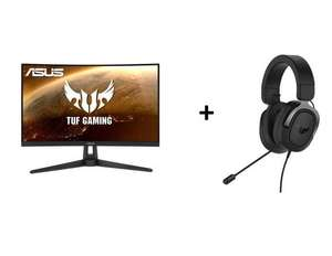 "Asus TUF Gaming VG27WQ1B 27"" WQHD VA Curved 165Hz Monitor (250cd/m², 4ms, AMD FreeSync) + TUF GAMING H3 Over-ear Headset + 20€ Cashback"