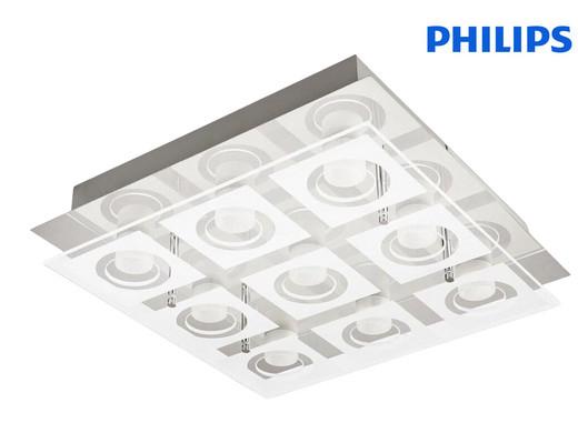 """Philips LED Deckenleuchte """"39517/11/P1 MYLIVING POLYGON"""" (Aus Glas + Metall, 9x 4.8 W, 3600 lm, 2700 K, Warmweiß) [iBOOD]"""