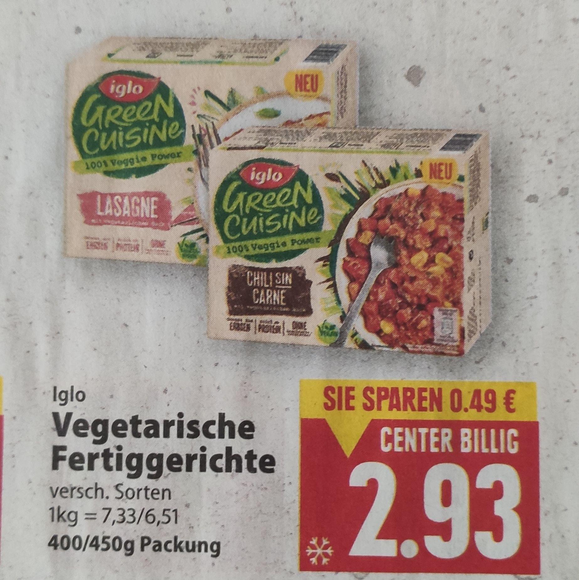 [Edeka Center Minden-Hannover] Iglo Green Cuisine Vegetarische Fertiggerichte mit Coupon für 1,93€ (nur heute)