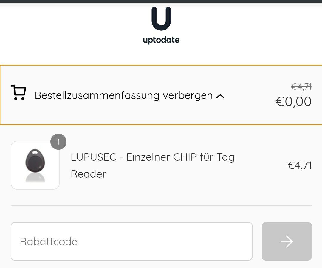 uptodate *Gutscheinfehler*- 5€ ohne Mbw-