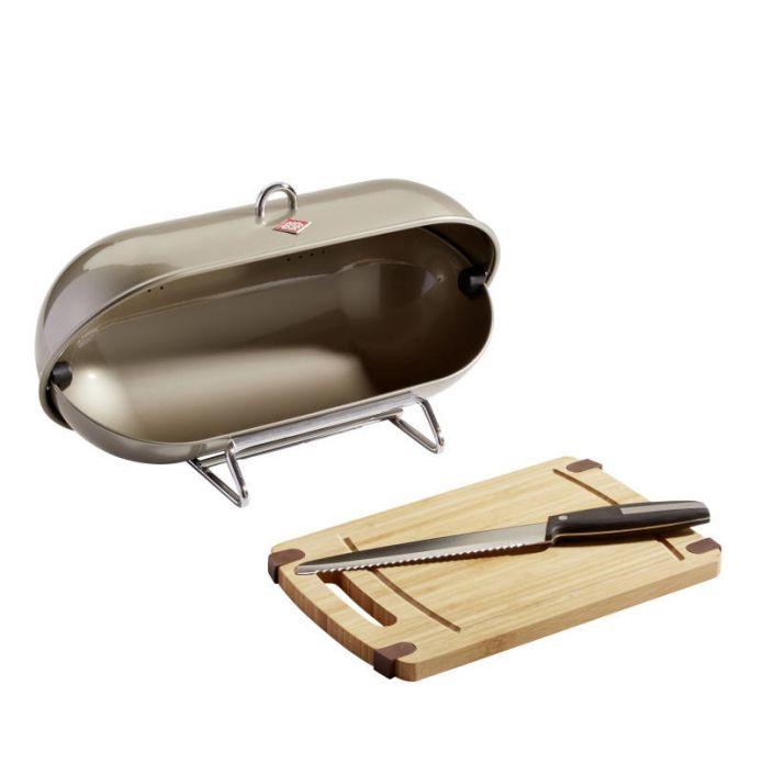 Wesco Breadboy+Schneidbrett+Messer Silber (auch in anderen Farben)
