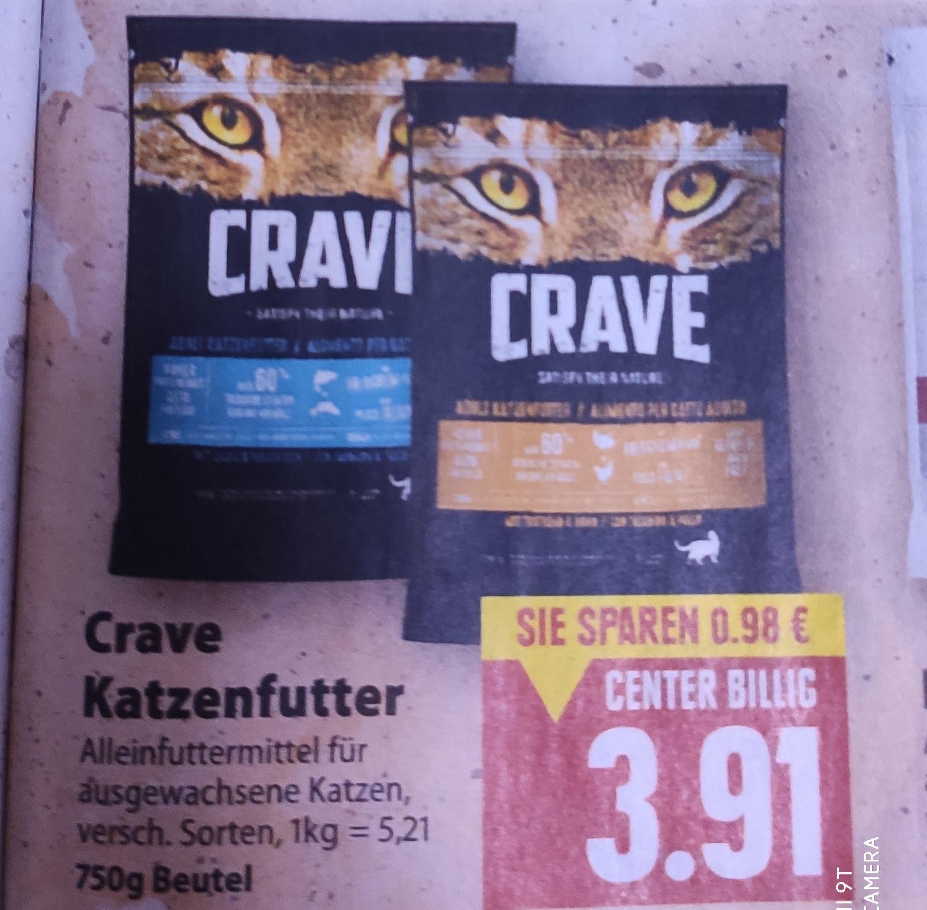 [Edeka Center Minden-Hannover] 2x Crave Katzenfutter 750g mit Coupon für 5,82€