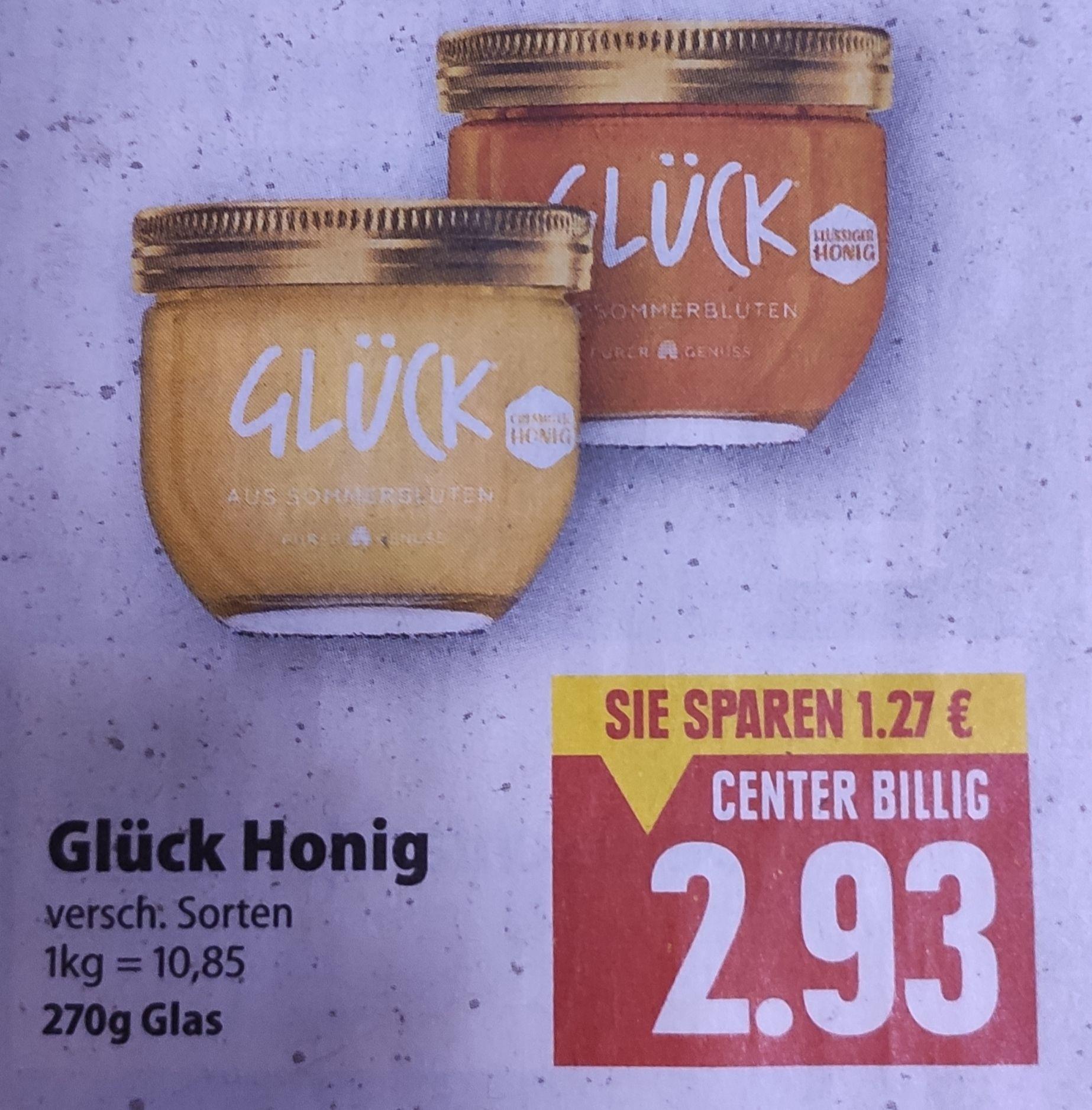 [Edeka Center Minden-Hannover] Glück Honig 270g mit Coupon für 1,93€ (7,14€/KG)
