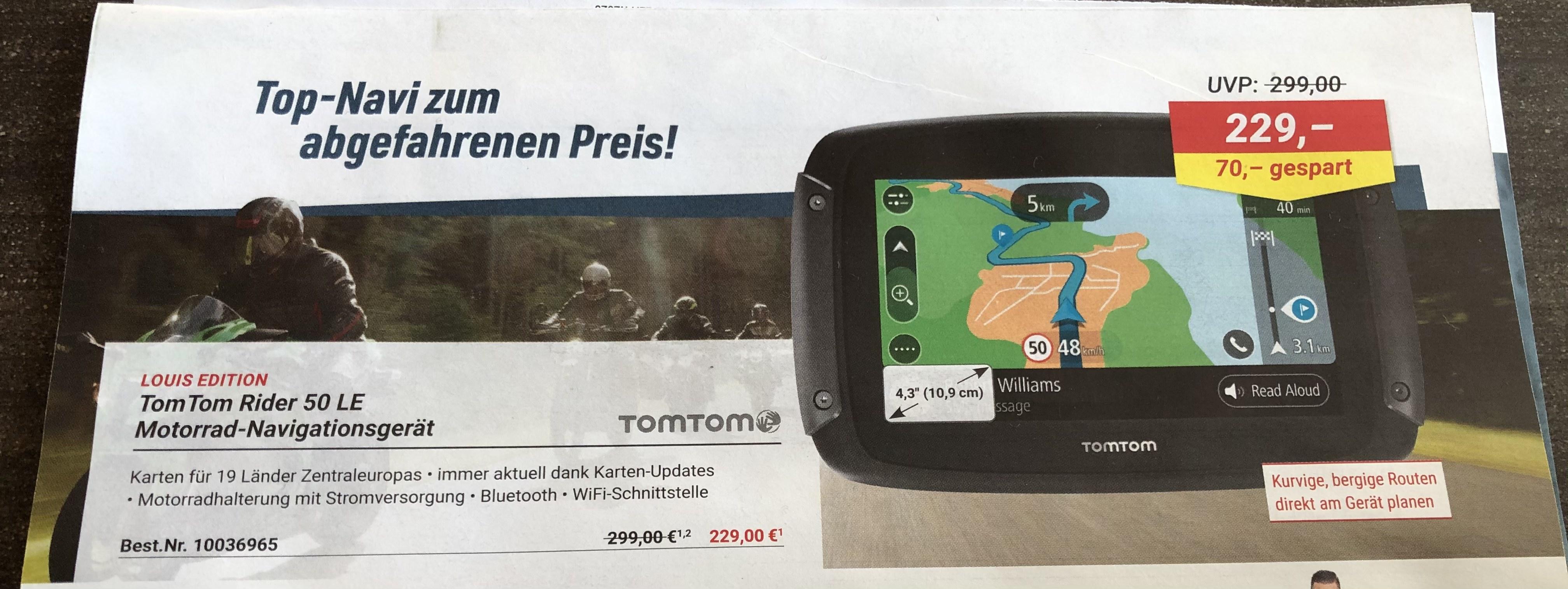 TomTom Rider 50 LE - Motorrad-Navigation