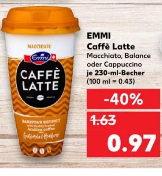 [Kaufland Do-Mi] Emmi Caffé Latte mit Coupon für 0,47€ oder mit Coupies Cashback für effektiv 0,27€