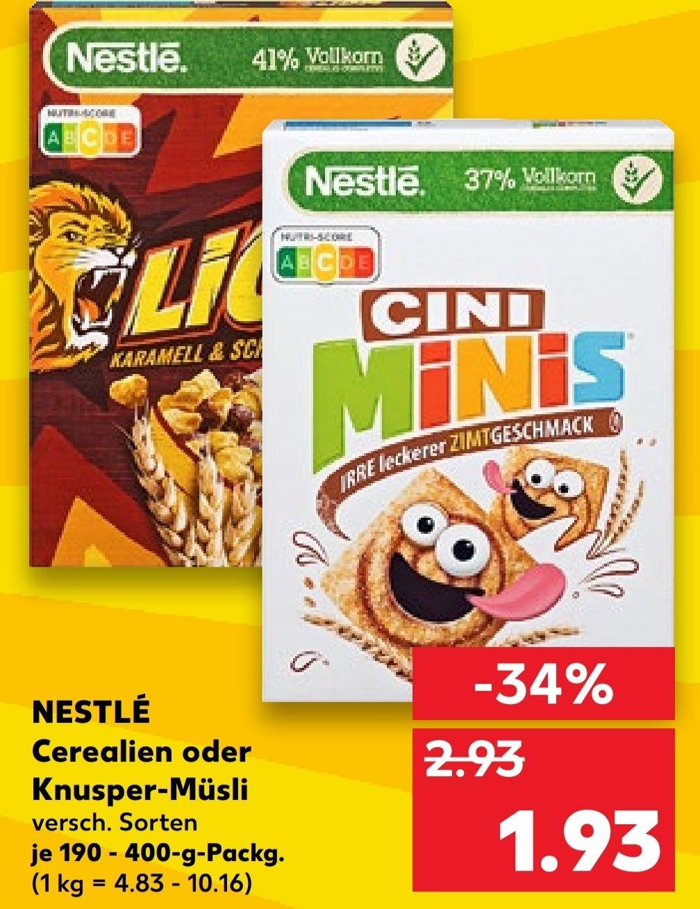 [Kaufland Do-Mi] Nestlé Ceralien verschiedene Sorten mit Coupon für 0,93€