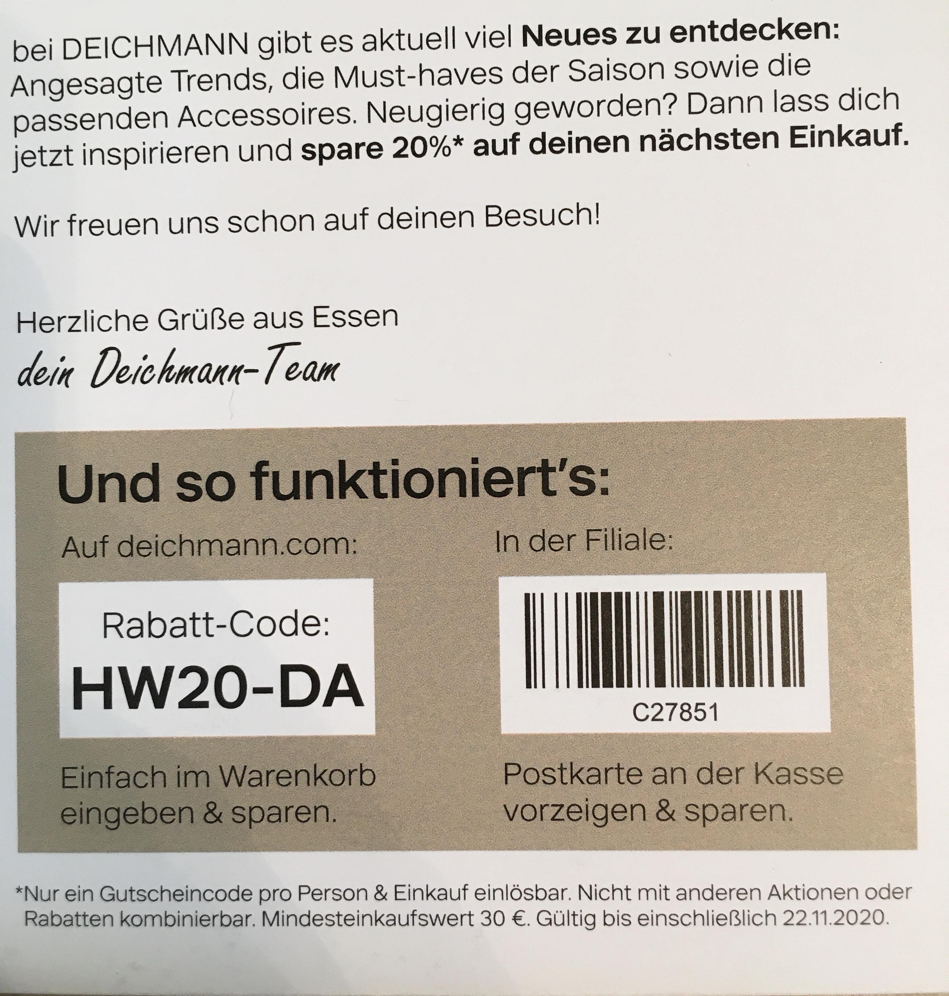 Deichmann 20% ab 30€