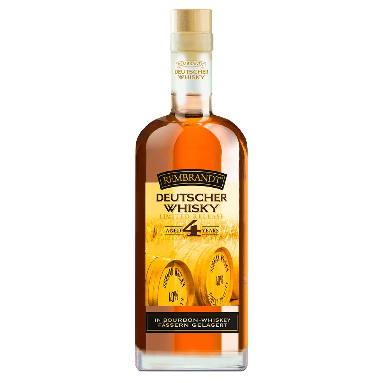 """{Aldi Süd) """"Rembrandt"""", Deutscher Whisky, 4 Years, 0,7l, Bourbonfass-Lagerung"""