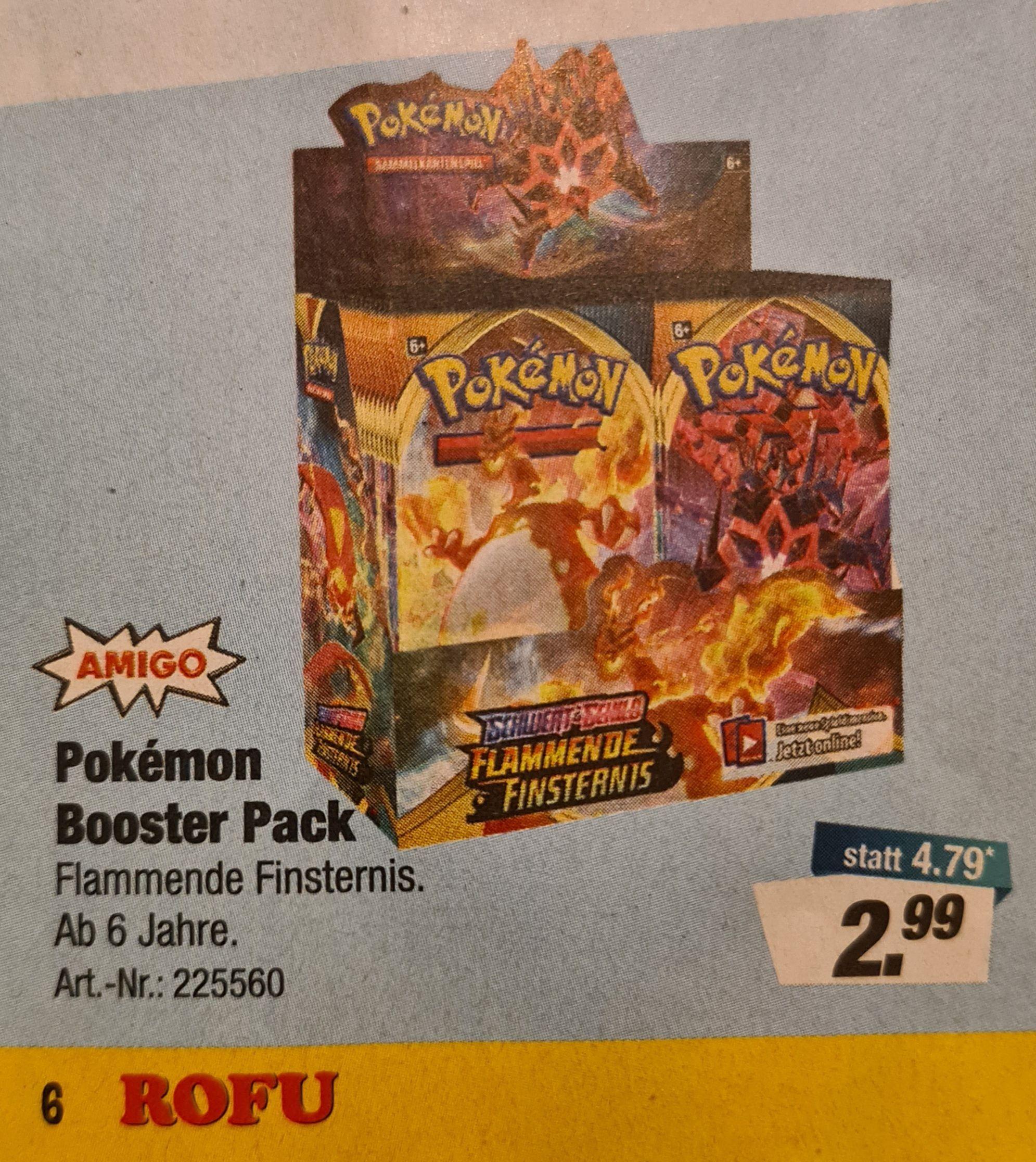 [Rofu] Pokémon Flammende Finsternis Booster Packs für 2,99€