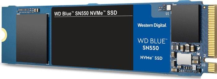 WD Blue SN550 NVMe M.2 500GB SSD (3D TLC, bis 2400R/1750W, SLC Cache, DRAMless, 5 Jahre Garantie)[MediaSaturn]