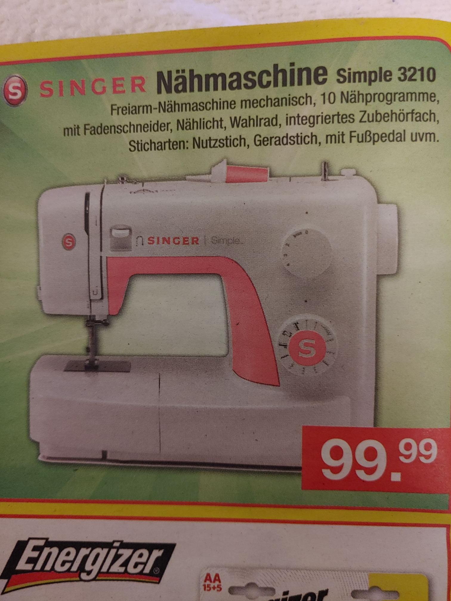 [Zimmermann] Nähmaschine Singer Simple 3210