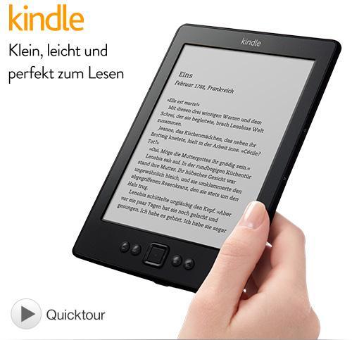 Kindle eReader mit WLAN für 59,- € anstatt 79,- €