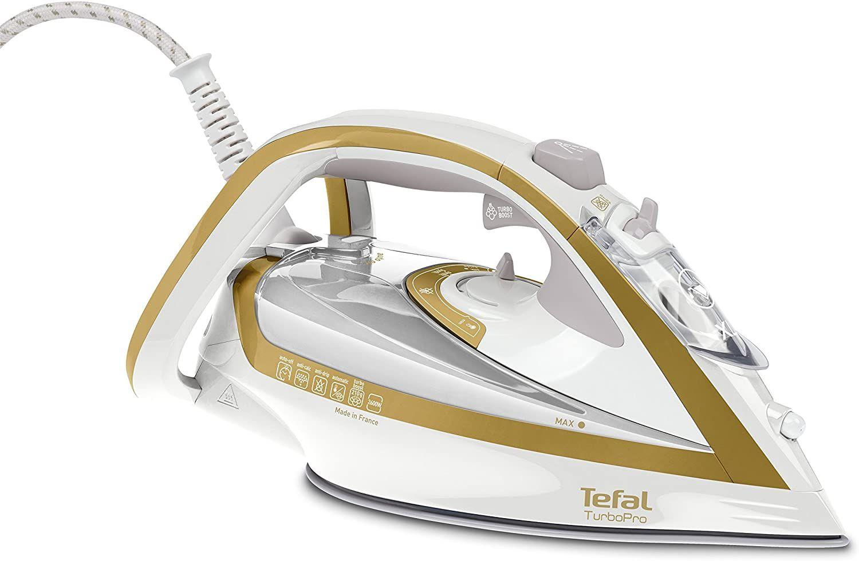 Tefal Turbo Pro Precision FV5625 Dampfbügeleisen, 2600 Watt, gold/weiß, 0,3 Liter [Amazon]