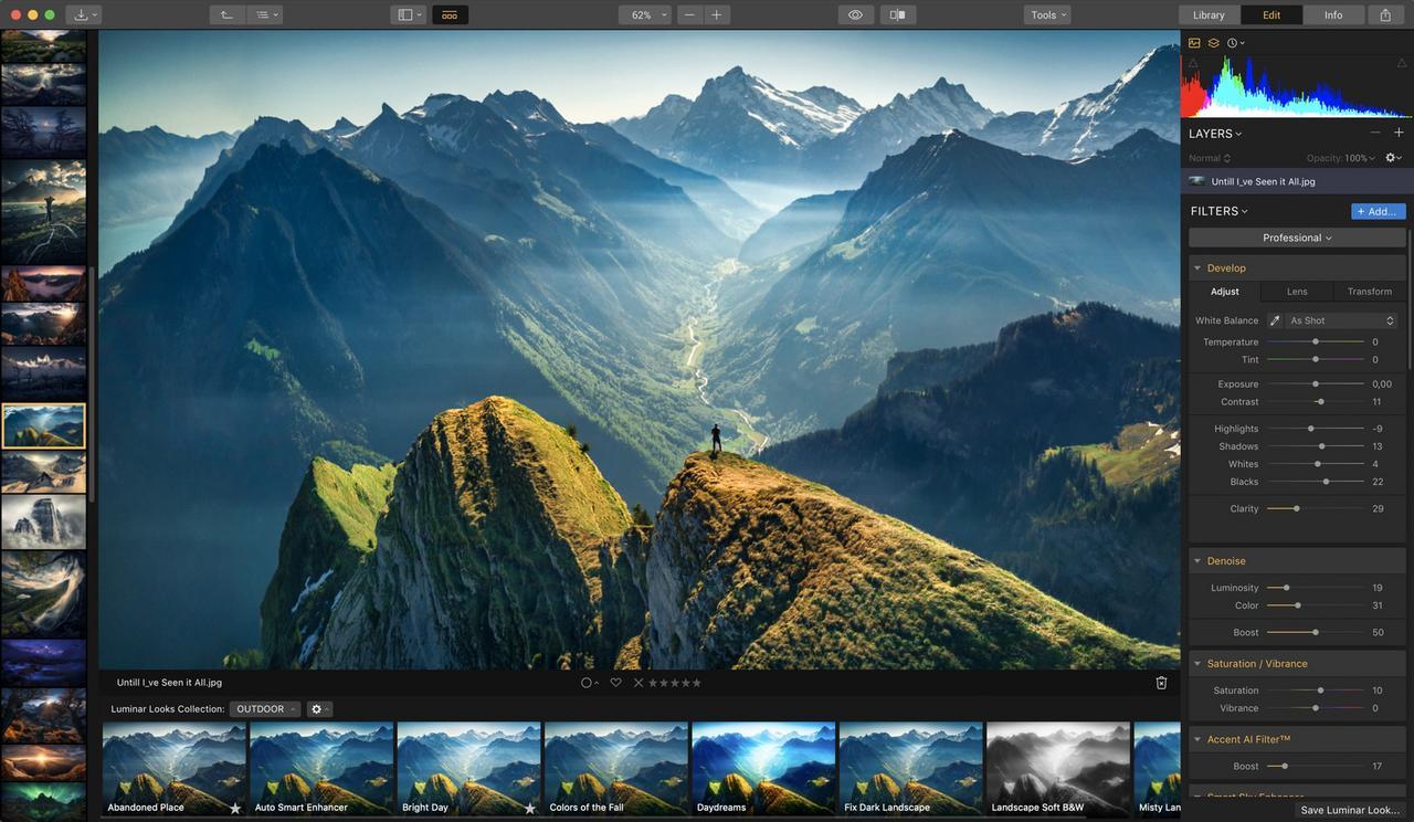 Skylum Luminar 4 Bildbearbeitung für 39 Euro (+ Dramatic Sunset Skies Collection)