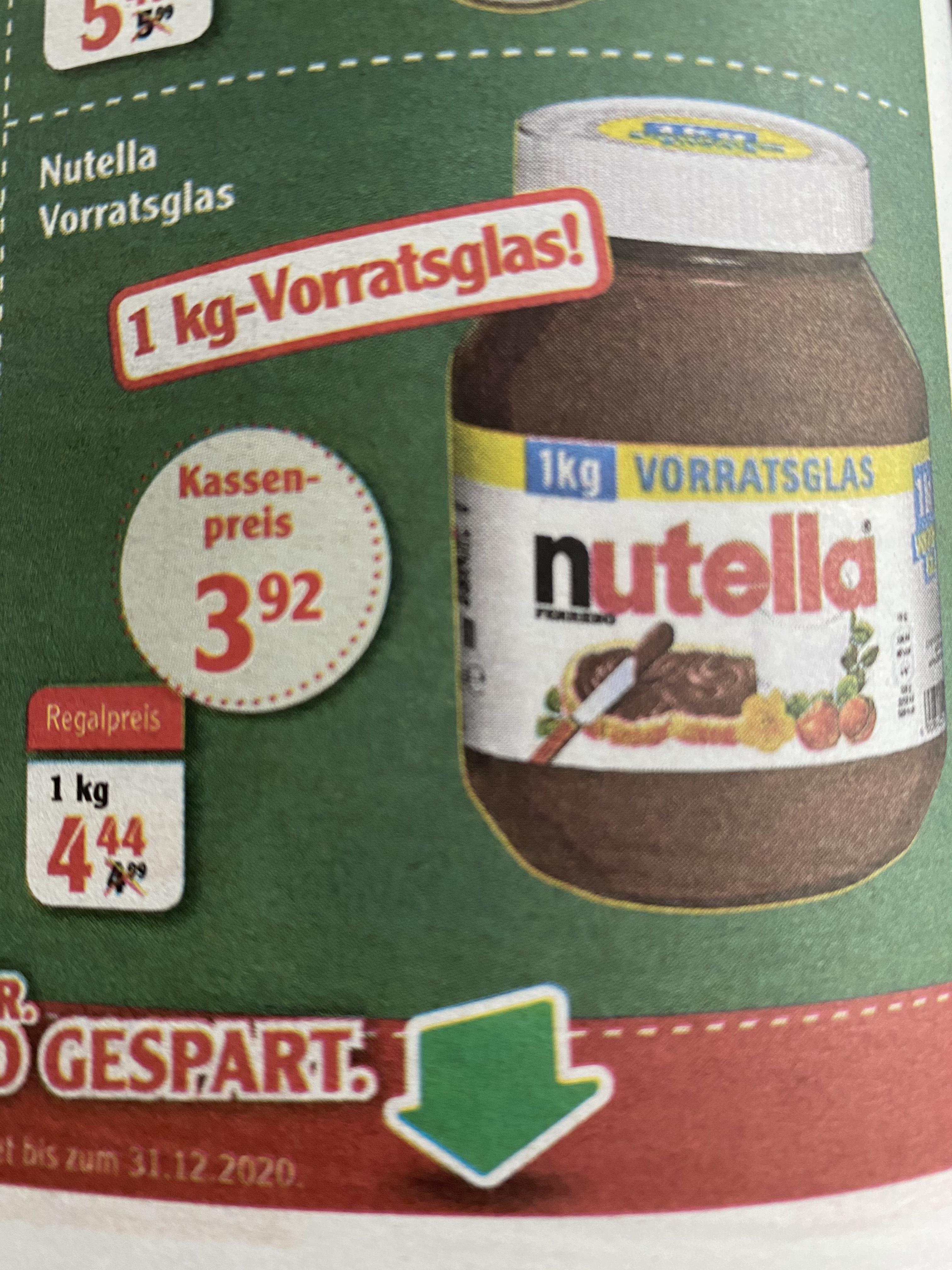 Nutella 1kg [Nicht Bundesweit]