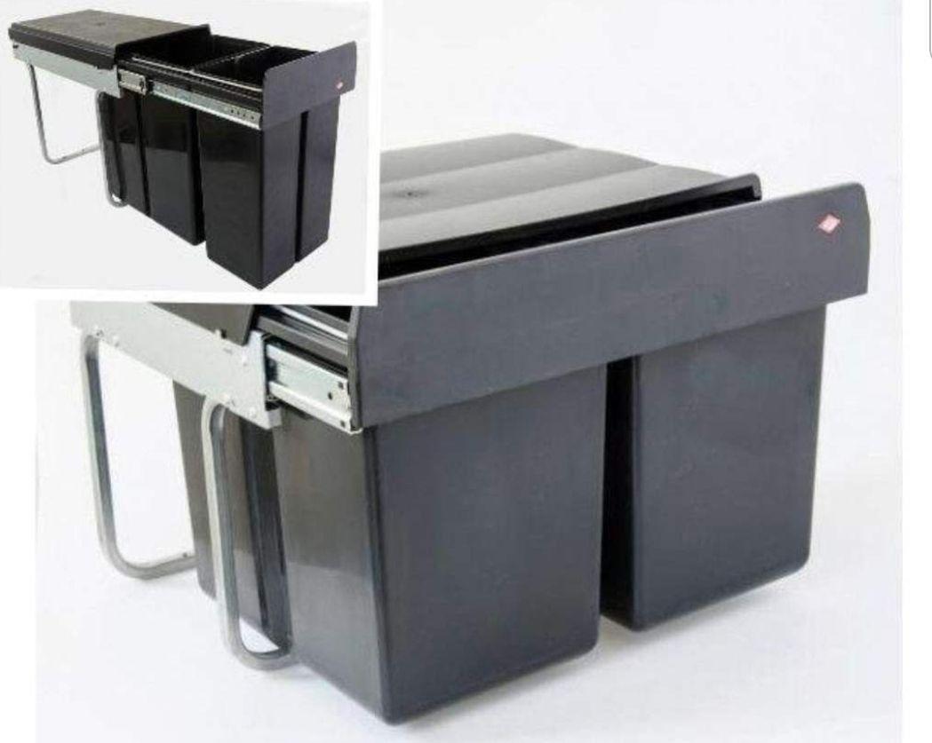 WESCO Einbau-Abfalleimer Double Boy 30DT 30 l (20+10 l) oder Double Shorty smart 30 l (2x15 l), offl. 24,99€ onl. 31,49€, Poco
