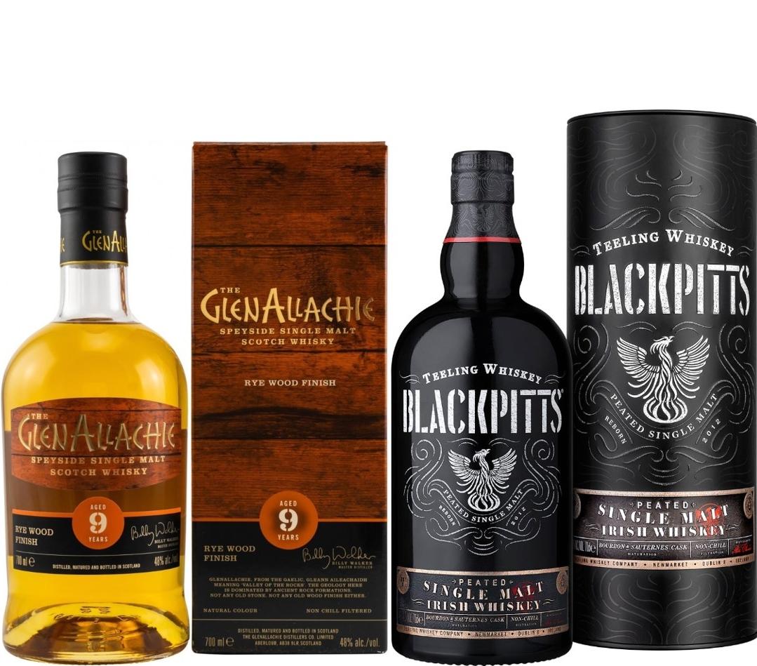 Whisky-Übersicht #54: z.B. GlenAllachie 9 Jahre Rye Wood Finish für 43,90€, Teeling Blackpitts Peated Irish Whiskey für 43,90€ inkl. Versand