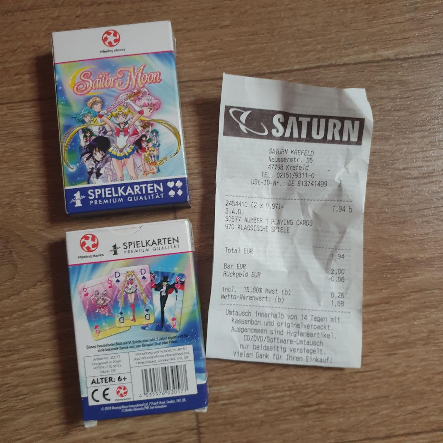 Saturn Krefeld - Sailor Moon Spielkarten
