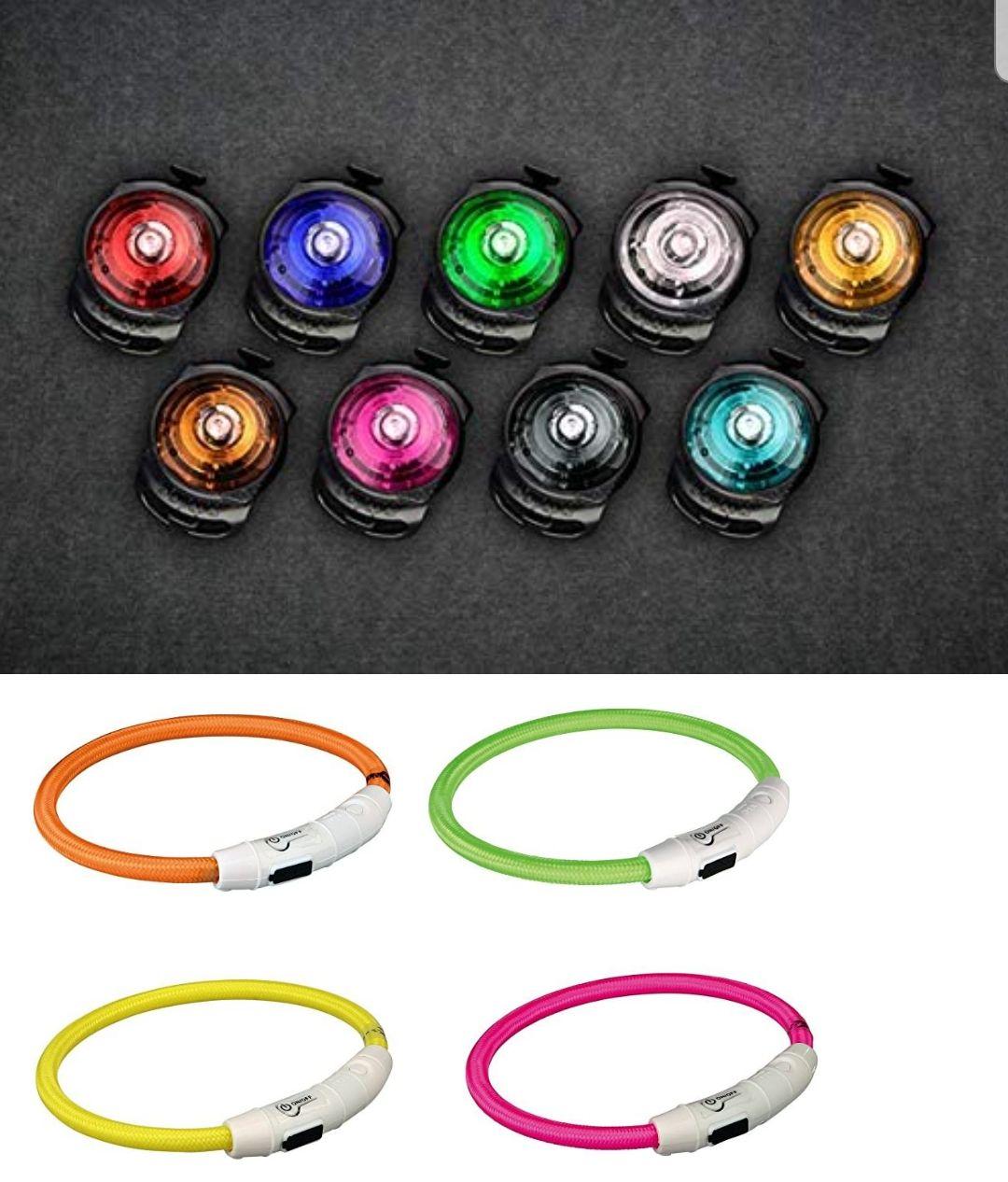 Orbiloc Sicherheitslicht 16,99€,Trixie Flash Leuchtring USB verschiedene Größen 5,99€, beide in verschiedenen Farben, Futterhaus[regional]