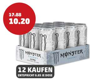 [PENNY] Monster Energy Drink (12 x 0,5l, vers. Sorten) | 0,48€/Dose MIT COUPON!